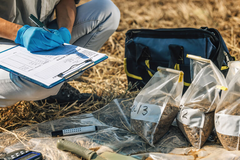 Bodenanalysen - Haufwerksbeprobung